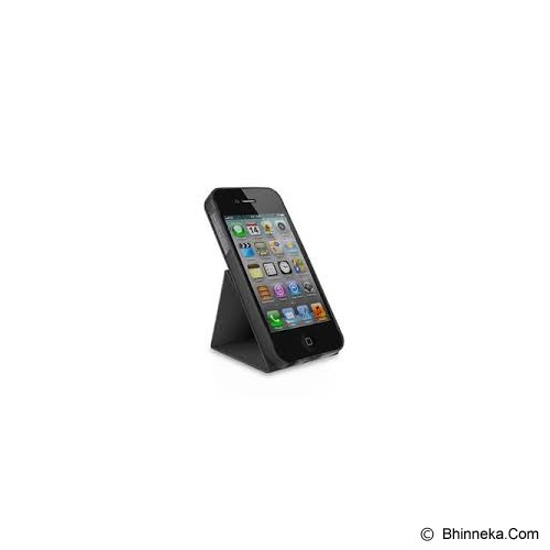 MACALLY Apple iPhone 5 Rotating Folio Stand Case [SSTAND 5] - Black - Casing Handphone / Case